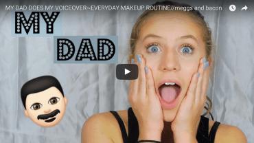 Grappig! Vader doet de voice-over van zijn dochters make-up tutorial