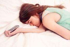 mobiele telefoon naar bed