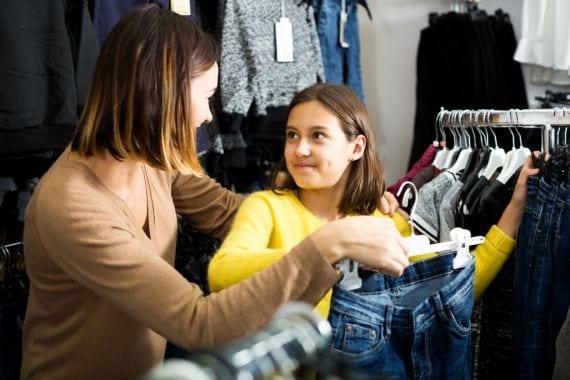 Winkelen met een puberdochter is een lesje loslaten