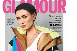 Glossy zet virtueel model op de cover